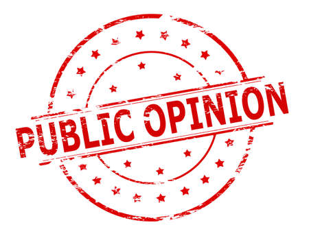 public opinion: Rubber stamp with text public opinion inside, vector illustration