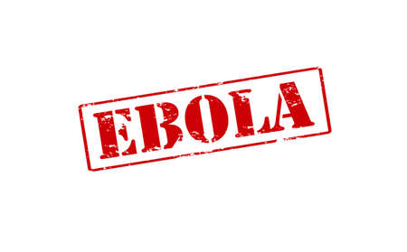 ebola: Rubber stamp with word Ebola inside, vector illustration