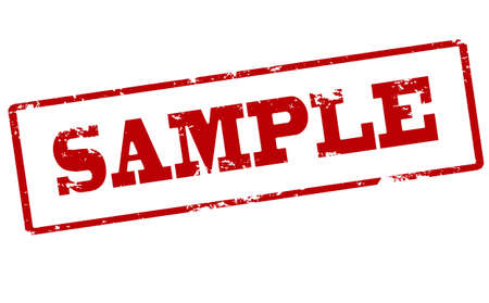 provexemplar: Rubber stamp with word sample inside, vector illustration