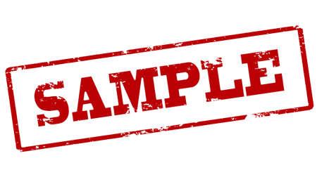 probation: Rubber stamp with word sample inside, vector illustration