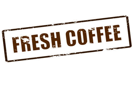 dewy: Rubber stamp with text fresh coffee inside, vector illustration Illustration