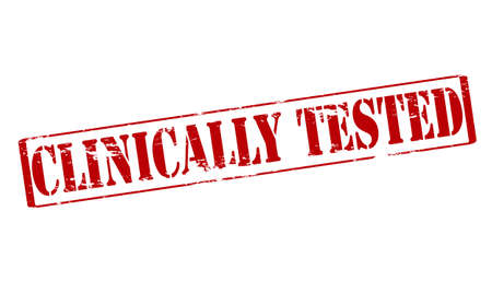 clinically: Rubber stamp with text clinically tested inside, vector illustration