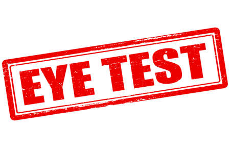 eye exam: Rubber stamp with text eye test inside, vector illustration