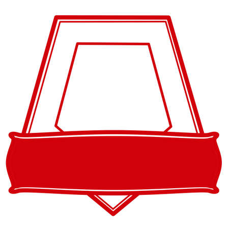 pentagonal: Rubber pentagonal stamp with no text inside Illustration