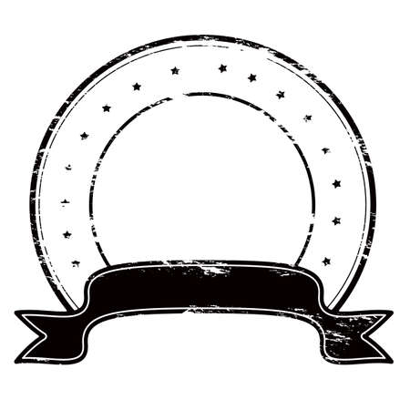 ribon: Rubber round stamp with no text inside Illustration