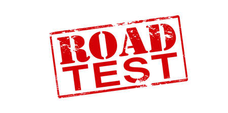 highroad: Rubber stamp with text road test inside, vector illustration