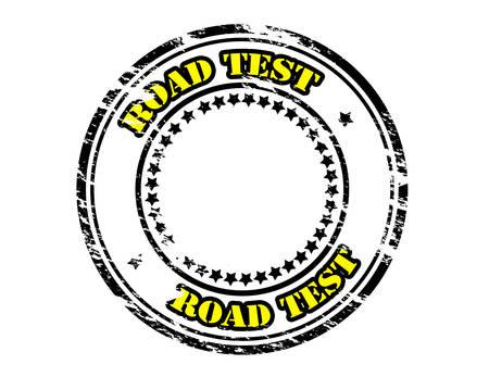 entrada da garagem: Carimbo de borracha com o texto dentro de teste de estrada