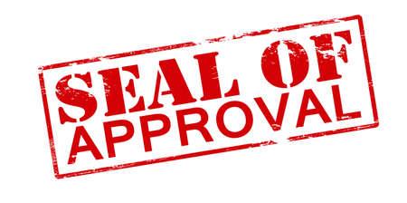 approbation: Timbro di gomma con il testo sigillo di approvazione all'interno