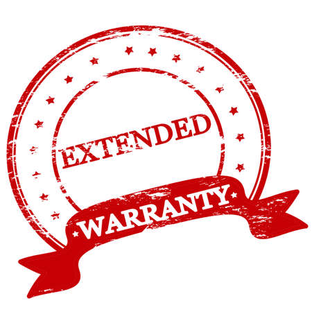 estendido: Rubber stamp with text extended warranty inside
