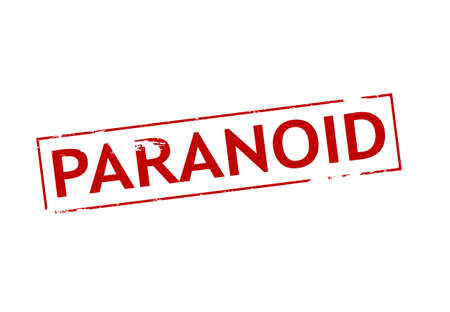 paranoid: Rubber stamp with word paranoid inside, vector illustration
