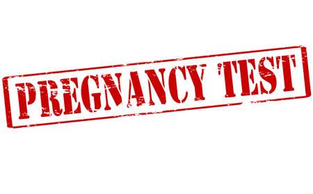 prueba de embarazo: Sello de goma con la prueba de embarazo texto dentro, ilustraci�n vectorial