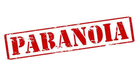 paranoia: Timbro di gomma con la parola la paranoia dentro, illustrazione vettoriale Vettoriali
