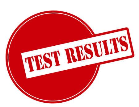 test results: Timbro di gomma con i risultati dei test di testo dentro, illustrazione vettoriale