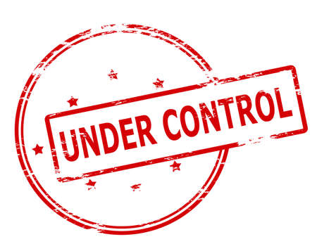 under control: Rubber stamp with text under control inside, vector illustration