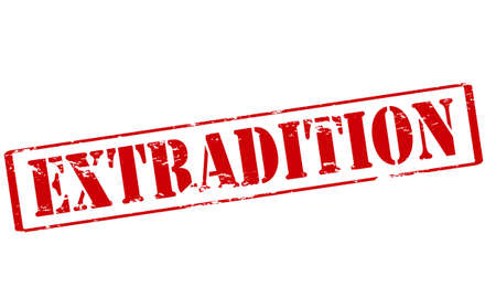 rendition: Rubber stamp with word extradition inside, vector illustration