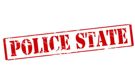 police state: Rubber stamp with text police state inside, vector illustration