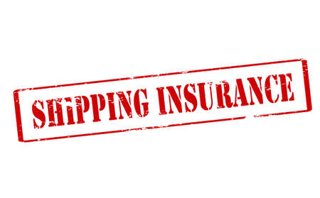ensuring: Rubber stamp with text shipping insurance inside, vector illustration