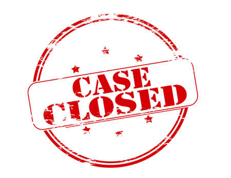 coop: Rubber stamp with text case closed inside, vector illustration