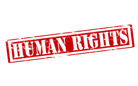 human rights: Rubber stamp with text human rights inside, vector illustration