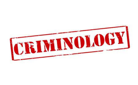 criminology: Rubber stamp with word criminology inside, vector illustration Illustration