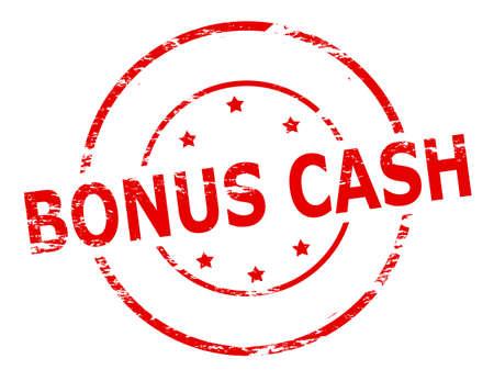 gratuity: Rubber stamp with text bonus cash inside, vector illustration