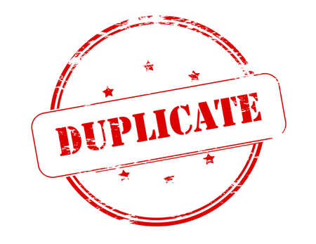 duplicate: Rubber stamp with word duplicate inside, vector illustration Illustration