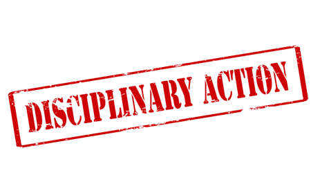 disciplinary action: Rubber stamp with text disciplinary action inside, vector illustration