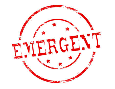 emergent: Rubber stamp with word emergent inside, vector illustration Illustration