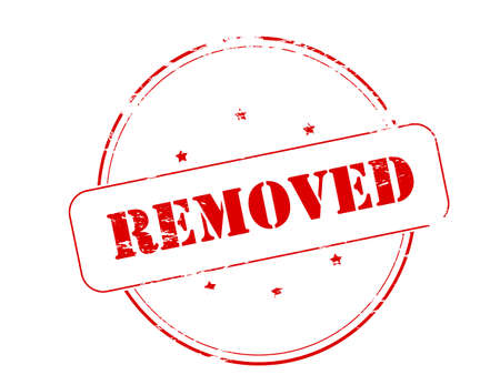 removed: Rubber stamp with word removed inside, vector illustration