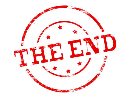 finale: Rubber stamp with text the end inside, vector illustration