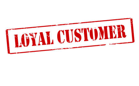 loyal: Rubber stamp with text loyal customer inside, vector illustration
