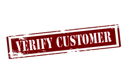 verify: Rubber stamp with text verify customer inside, vector illustration