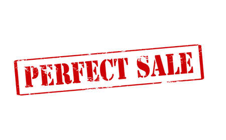 perfect: Rubber stamp with text perfect sale inside, vector illustration