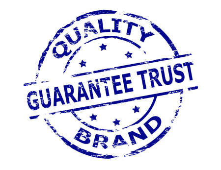 sponsorship: Rubber stamp with text quality brand inside, vector illustration Illustration