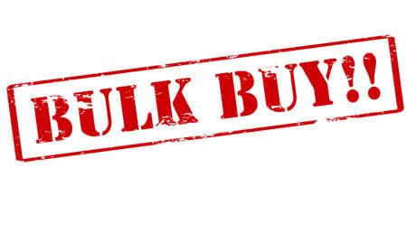 bulk: Rubber stamp with text bulk buy inside, vector illustration
