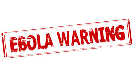 premonition: Rubber stamp with text Ebola warning inside, vector illustration