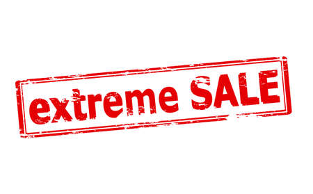 zdradę: Rubber stamp with text extreme sale inside, vector illustration