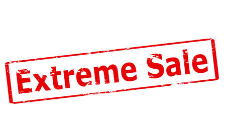 aşırı: Rubber stamp with text extreme sale inside, vector illustration