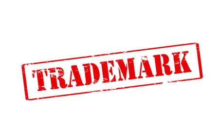 trademark: Sello de goma con la palabra de la marca en el interior, ilustraci�n vectorial