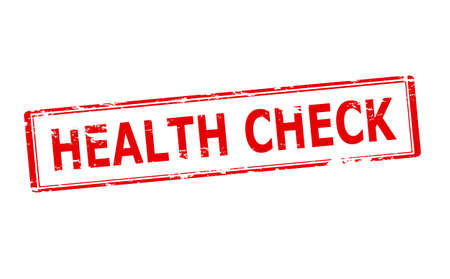 healthfulness: Rubber stamp with text health check inside, vector illustration