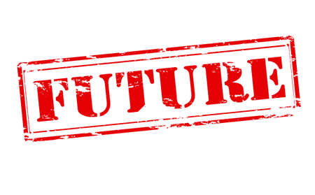 futurity: Rubber stamp with word future inside, vector illustration