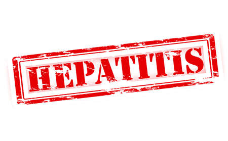 hepatitis a: Rubber stamp with word hepatitis inside, vector illustration