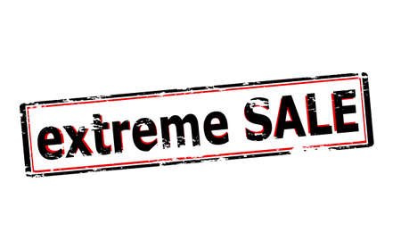 furthest: Rubber stamp with text extreme sale inside, vector illustration