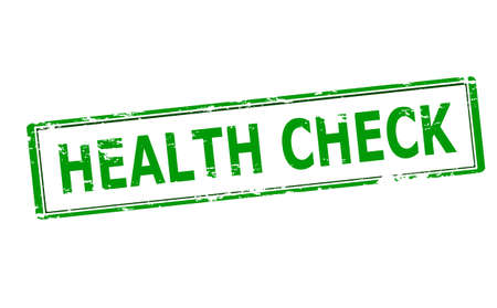 health check: Rubber stamp with text health check inside, vector illustration