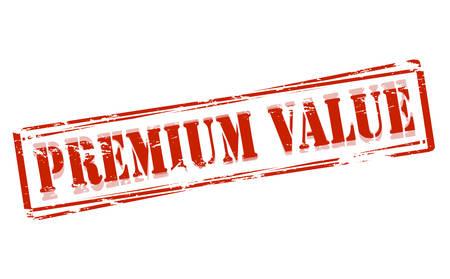 spoil: Rubber stamp with text premium value inside, vector illustration Illustration