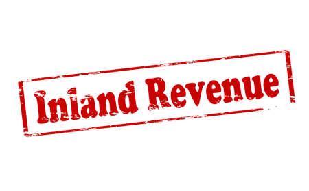 inland: Rubber stamp with text inland revenue inside, illustration
