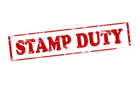 duty: Rubber stamp with text stamp duty inside, illustration Illustration