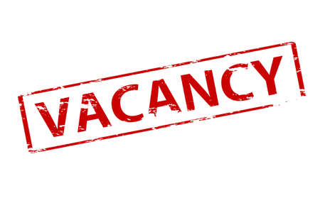 vacancies: Rubber stamp with word vacancy inside, illustration