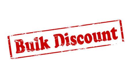 bulk: Rubber stamp with text bulk discount inside, illustration