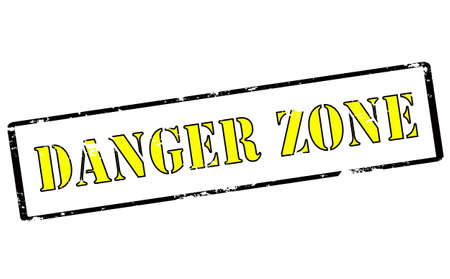 danger zone: Rubber stamp with text danger zone inside